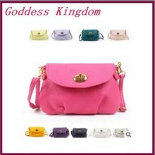 2014 new Style best sale Exports mini candy color women shoulder bags messenger bag Women leather Bags QF053