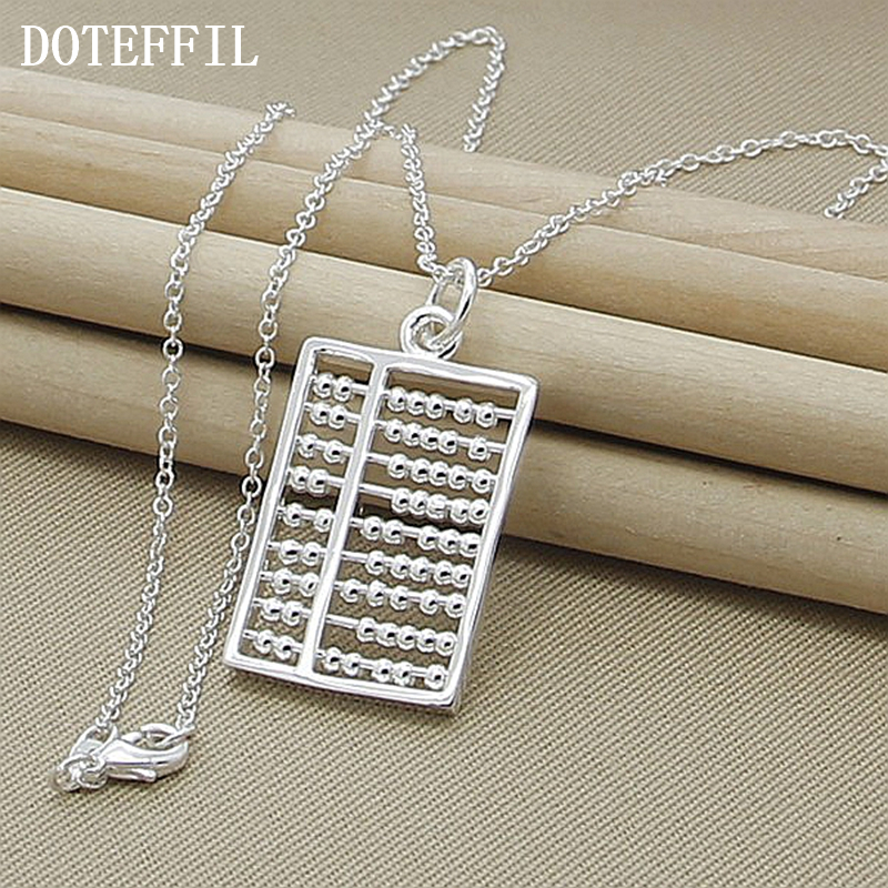 New Design Fashion Abacus Maths Pendant Necklace 925 sterling silver Necklace Geometric Gift Jewellry Wholesale(China (Mainland))