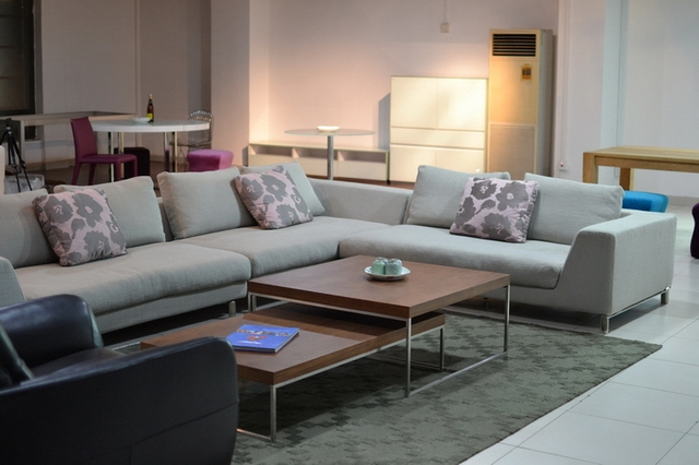 2013  NEW KBH cloth artistic  sectional sofa set  living room furniture,modern style,TWO seat
