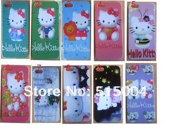 New beautiful Hello Kitty hard back case for iphone 5 5th 10pcs/lot +free shipping-HK3
