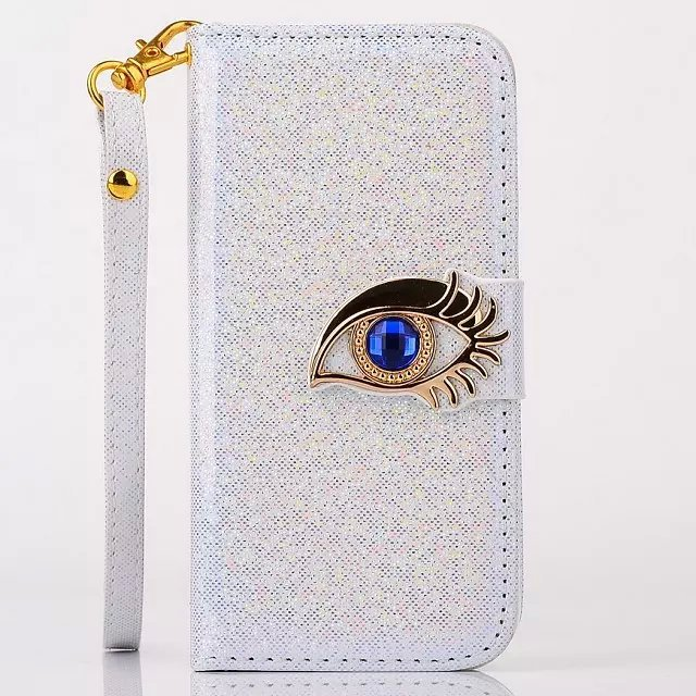 Shining Skin Leather Wallet Case and TPU Back Cover Stand Blue Eagle Eye Case For Samsung Galaxy S5 i9600()