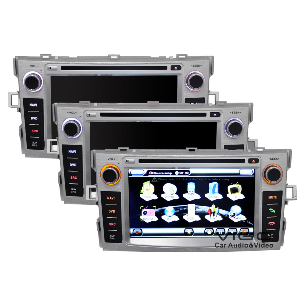 "7"" In Car DVD GPS for Toyota Verso 2010-2012 Stereo Sat Nav Head Unit Multimedia Autoradio Bluetooth HD Touch Screen USB SD AUX(Hong Kong)"