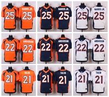 Denver Broncos #95 Derek Wolfe Elite White Navy Blue Alternate and Orange Team Color high-quality free shipping(China (Mainland))