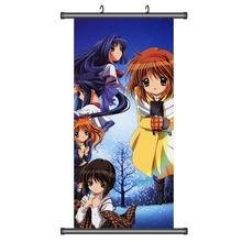 45X95CM Kanon Mai Nayuki Shiori Makoto Ayu Japan Cartoon Anime wall scroll picture mural poster art cloth canvas paintings YE204