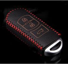 Key wallet car genuine leather key cover auto parts for Mazda cx-5 Mazda CX-5 CX5 axela 3 atenza 6 MAZDA CX-7 2012 2013 2014