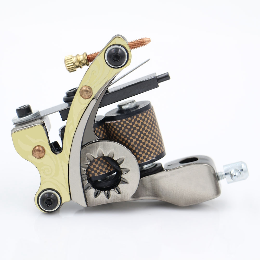 Cheap tattoo machine 10 warps coil tattoo machine gun cast for Tattoo gun prices