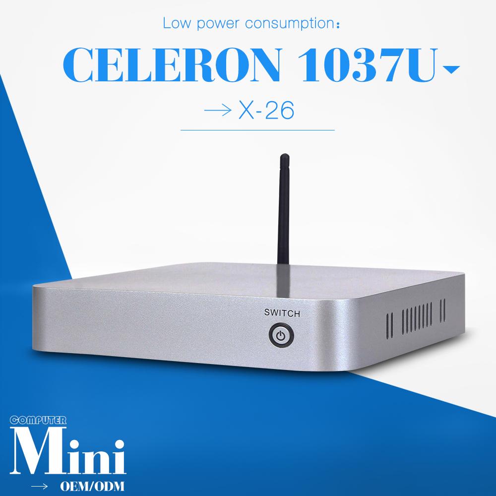 New arrival!! c1037u 2gb ram 128gb ssd with wifi embedded mini pc fanless pc support Linux OS Ubuntu thin client mini pcs(China (Mainland))