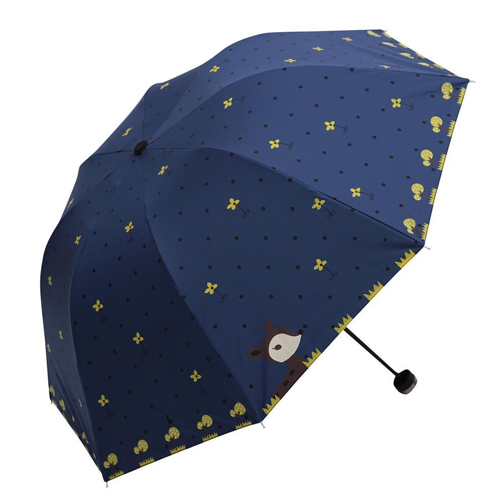 Lady Princess Cartoon Lovely Dome Parasol Sun/Rain Folding Umbrella Cute flower fox pring rainny sunny umbrella drop shipping(China (Mainland))