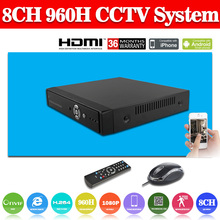 Full 960H D1 H.264 HDMI Security System CCTV DVR 8 Channel Mini DVR Digital Video Recorder DVR with audio,HDMI,Cloud P2P no HDD(China (Mainland))