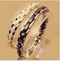 luxury brand Ceramic european charm female friendship bangle Bracelet 18k For Women   BR002