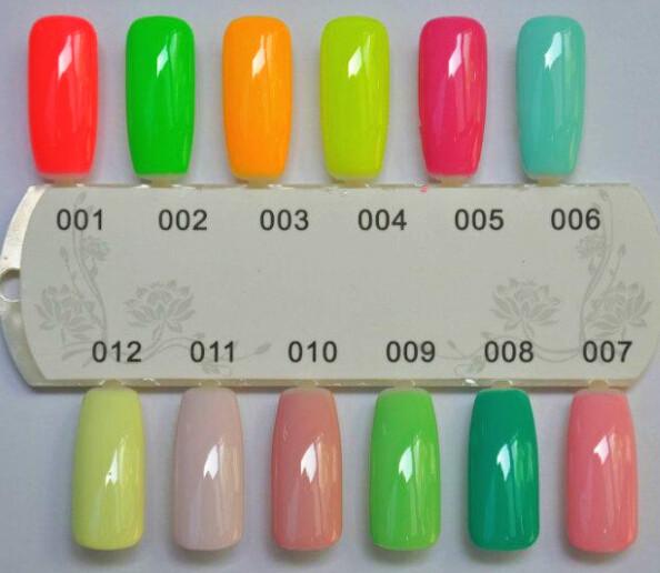 5pcs/lot hot red color nail gel polish RNK Uv Gel Nail Suppliers Free Shipping cheap retail(China (Mainland))