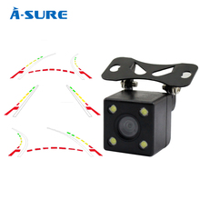 A-Sure Advanced Dynamic Parking Track Rear View Reversing CCD Camera HD 170 Degree Night vision Waterproof Dust-proof (B-388)(China (Mainland))