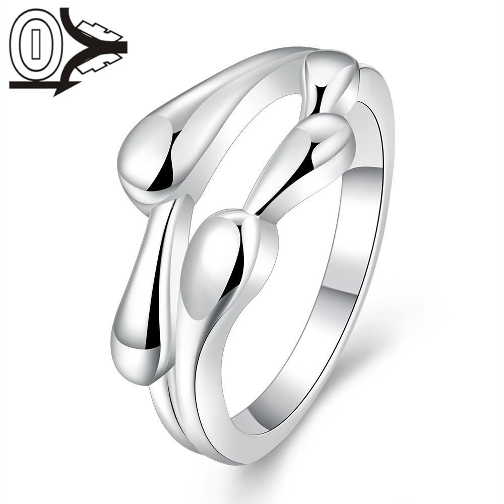 2016 New Arrival Silver-plated Ring,Silver Fashion Jewelry,Women&Men Gift Creative Lian Li Droplets Double Finger Rings