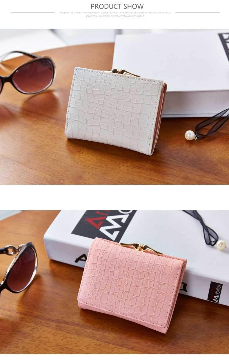 HTB1VhbYPVXXXXcbXXXXq6xXFXXXR - WEICHEN 2017 New Crocodile Pattern PU Leather Women Short Wallet Fresh Style Lady Girls Notecase Female Purse With Coin Pocket