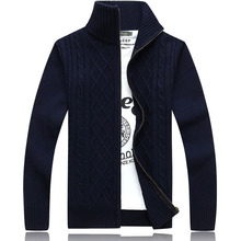 Mens 2016 Fashion Clothes Zipper  Warm Full Sleeve Sweater Autumn Winter Cardigan Male Sweaters Coat Knitwear For Man 72(China (Mainland))