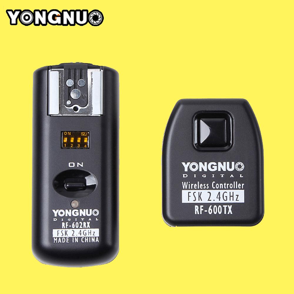 Yongnuo RF602 RF-602 C 2.4GHz Wireless Remote Flash Trigger Transmitter Receiver for Canon 1100D/1000D/600D/550D/500D/450D/400D