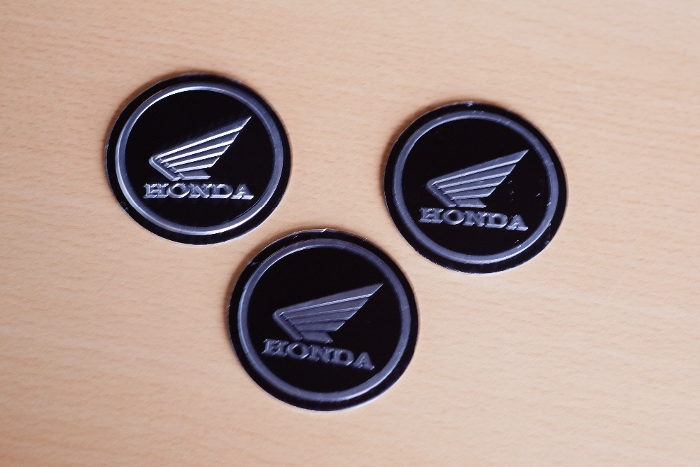 New 2016 one Motorcycle Tuning Parts For HONDA Metal Logo Stickers REAR TRUNK BADGE SYMBOL Badge Decal Sticker car diameter 55mm<br><br>Aliexpress