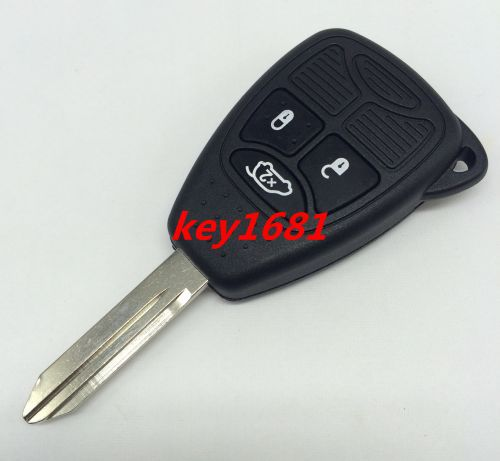 car key for chrysler dodge jeep 3button remote control 434mhz with uncut blade transponder 46chip(China (Mainland))