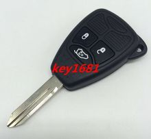 car key for chrysler dodge jeep 3button remote control 434mhz with uncut blade transponder 46chip (China (Mainland))