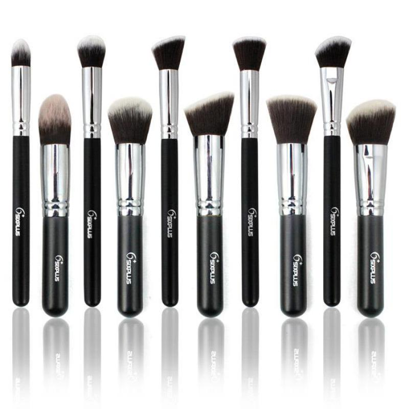 Professional Make Up Brushes 10 PCS/SET Brand Classic Black Powder Brush Set Foundation Beauty Makeup Tools&Accessories Hot Sale