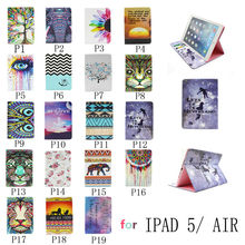 Luxury Painting design Stand Leather Case Skin Cover For apple iPad air ipad5 Tablet PC