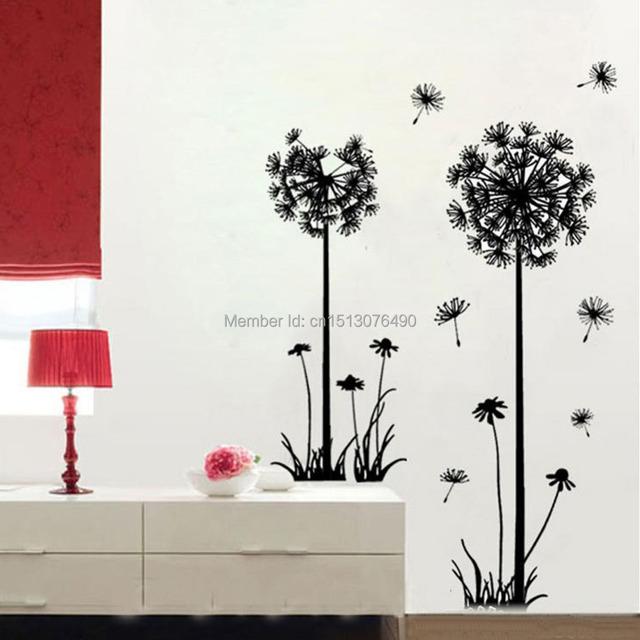 51 '' * 43 '' для дома декор одуванчик цветок стена наклейка съёмный спальня искусство росписи винил стена наклейки наклейка