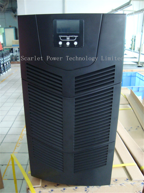 10kva UPS with external batteries LED + LCD Display Screen 220V 50HZ 10kva 8kw Pure Sine Wave High Frequency Online UPS 10KVA(China (Mainland))