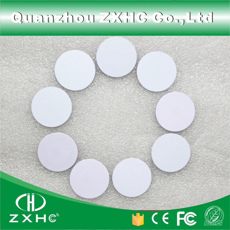 10pcs Waterproof 25mm x 1mm RFID 125KHz Tag PVC Coin Card with TK4100(compatible EM4100)in Access Control(China (Mainland))