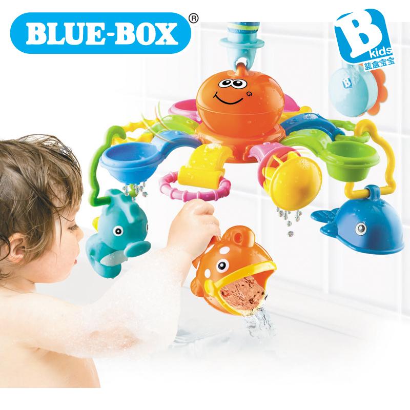 Blue box child bath toys infant bath set(China (Mainland))
