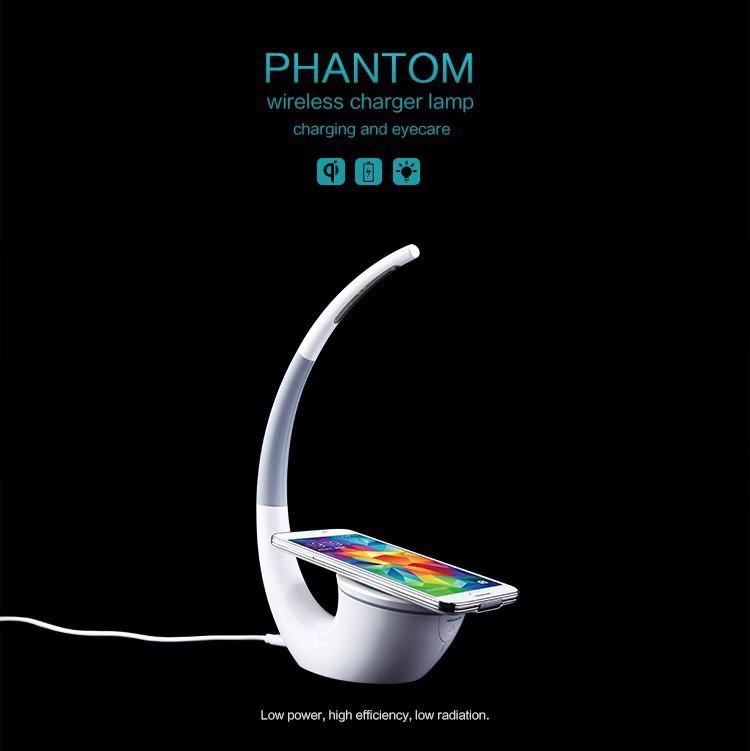1PCS Nillkin Phantom Wireless Charger lamp Qi Wireless Charger Table Lamp for iPhone Samsung LG Nexus 5 Nexus 6 Nokia Lumia 1520(China (Mainland))