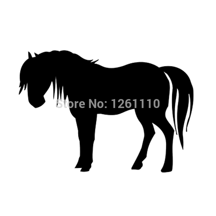 20 pcs/lot Horse silhouette - Vinyl Decal Bumper Stickers for Car Truck Window Wall Art laptop Notebook Glass 8 Colors(China (Mainland))