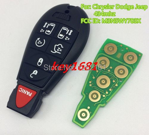 car key for car chrysler dodge jeep town Commander smart card 434mhz remote control with uncut small key(China (Mainland))
