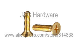 M2.5 * 6 Brass machine screw  countersunk head  Flat head  1000 pieces<br><br>Aliexpress