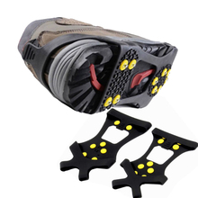 Anti-slip Ice Gripper Crampons lastic magic spike shoes with crampon anti slip overshoes or mountaineering climbing(China (Mainland))