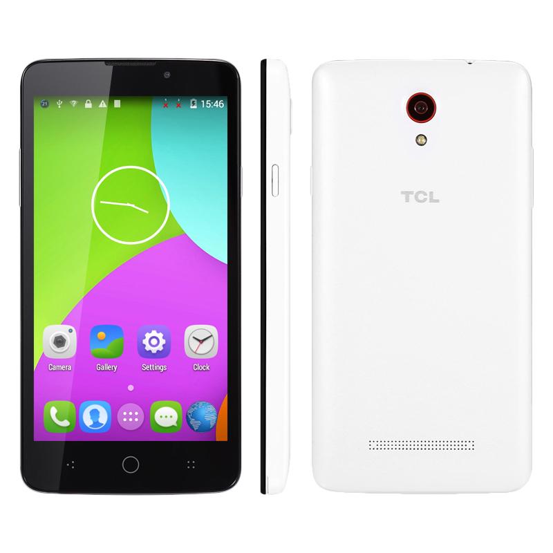 Cheapest 4G China Brand Android Mobile Phone TCL 302U 1GB RAM 8GB ROM 5.0 Inch Quad Core Smartphone Dual SIM Card Unlocked(China (Mainland))
