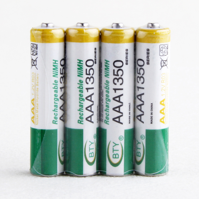 Freeshipping 4 pcs / Pack  AAA Ni-MH Rechargeable Battery Pack 1350mAh 1.2V Video Game Controller Xbox PS3