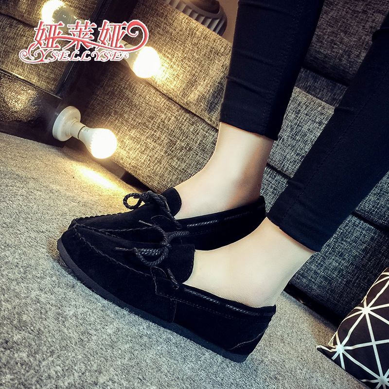Free shipping 2016 spring shoes shoes slip-on Doug couple flat pedal car driving shoes women shoes casual shoes