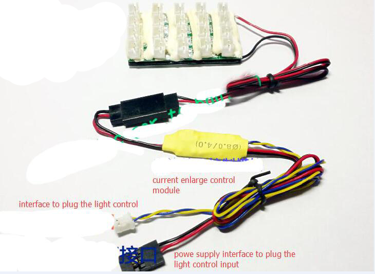 4 IN 1 RC Tractor Lights Big Current Enlarge Expansion Module with 20 pcs LED Ports and Limiting Circuit(China (Mainland))