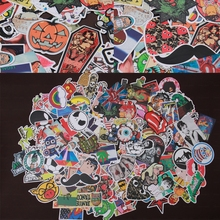 200 pcs Drop shipping mixed Hot sale Home decor toy styling laptop stickers for motorcycle skateboard doodle toys stickers(China (Mainland))