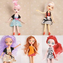 7 Dolla Doll Clothes Dress Garment accessory for 25cm solid body Change clothes get dressed gift for girls Lucky Girl princess(China (Mainland))