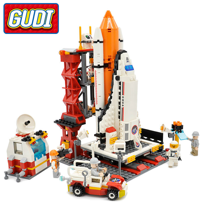 GUDI City Spaceport Space Shuttle Blocks 679pcs Bricks Building Block Sets Educational Toys For Children(China (Mainland))