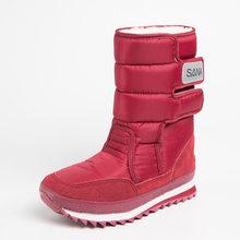 VESONAL 2019 Winter Mid-kalb Schnee Stiefel Frauen Schuhe Frau Warme 25% wolle Samt Plüsch Wasserdichte Russland Weibliche Plattform booties(China)