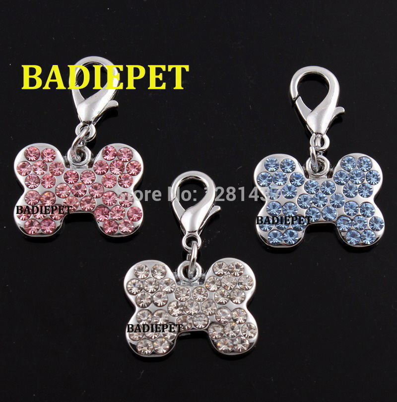3Colors Top Quality Luxury Diamond Bone Shape Dog Pet Pendant Charm!10% off for 3 lots!(China (Mainland))