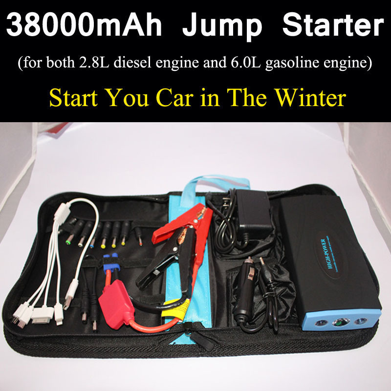 38000mAh Mini Jump Starter 12V Auto Engine Jumper Booster Car Battery Charger Emergency Power Bank Multifunction Batteries(China (Mainland))