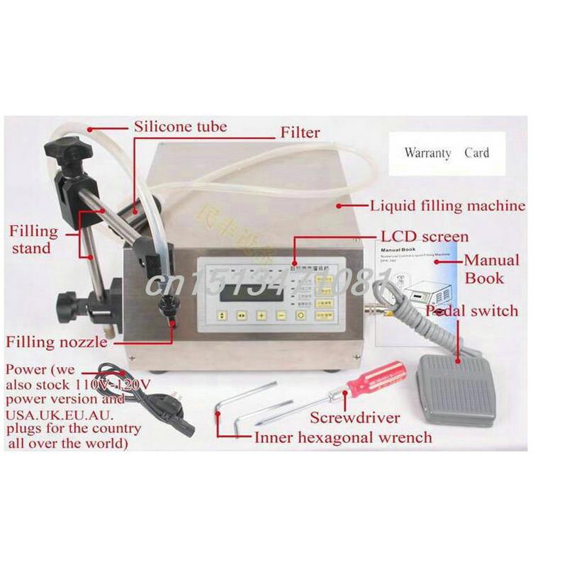 FREE SHIPPING Digital Control Pump Drink Water Liquid Filling Machine GFK-160 5-3500ml(China (Mainland))