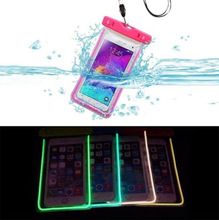 Fashion Clear Shinning Universal Waterproof Phone Bag Pouch For Lenovo S890 Cover Water Proof Diving Swimming