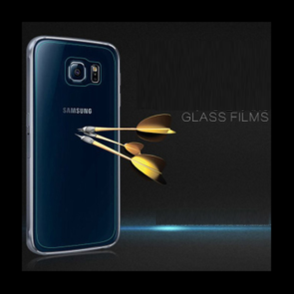 100pcs/lot 9H 0.3mm Premium Tempered Glass Screen Protector Explosion Proof Anti Shatter For Samsung Galaxy S6 G9200 Back Film