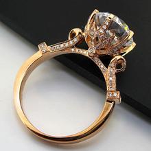 3 Карат Solid Розовое Золото 585 Oxhead Стиль Неизменную ЧАРЛЬЗ и COLVARD Муассанит Обручальное Кольцо Для Женщины Полный Золотые Украшения(China (Mainland))