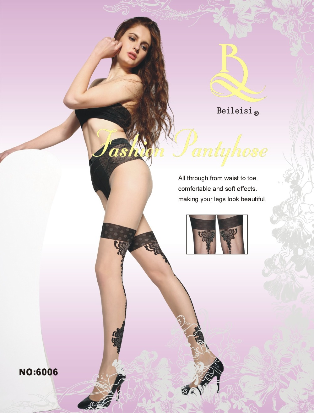 BEILEISI beige Sexy seamed back tattoo printed Sheer patterned pantyhose stockings nylon tights hosiery lingerie for women men(China (Mainland))