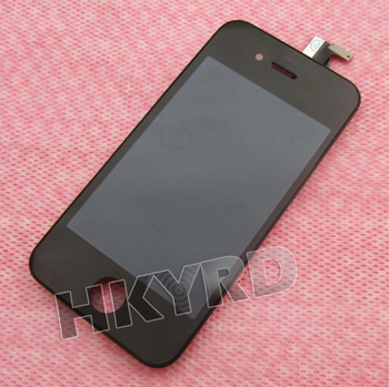 2PCS LCD Touch Screen Glass Display Assembly for iPhone 4 4G Black BA019 T15